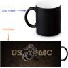 USMC 350ml/12oz Heat Reveal Mug Color Change Coffee Cup Sensitive Morphing Mugs Magic Mug Milk Tea Cups ботинки usmc американской морской пехоты