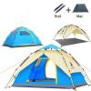 Палатка для кемпинга 3-4 человека Палатки Гидравлическая автоматическая водонепроницаемая палатка с двойным слоем Сверхлегкий открытый пеший туризм Места для пикника