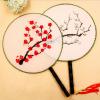 веер,китайские суда стиль обычная ткань веер китайские медицинские стеклянные банки купить