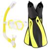 Whale Professional Water Sports Swim Diving Mask Fins Взрослый гибкий Комфорт Плавательные фишки Сухая трубка для дыхания Трубка для погружения