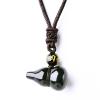 Природный радужный глаз Обсидиана ручной резной ожерелье Подвеска энергии камень подарок Мужчины и женщины Подвески серьги коюз топаз серьги т101027579