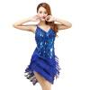 2018 Новое прибытие сексуальное бахрома латинское платье танца для девочек дешевая латунная юбка танец латуни в продаже 4 цвета до цепочка латунная