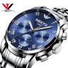 NIBOSI кварцевые наручные часы мужские роскошные новые часы хронограф модные кожаные мужские часы Relogio Masculino Saat