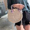 SGARR Роскошные женские пляжные сумки Высокое качество Дамы Маленькое плетение соломы Круглая наплечная сумка Новая мода Женская летняя сумка Messenger сумка renee kler сумки пляжные