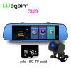 CU6 Smart Dash Cam 4G DVR 8 'Автомобильная GPS-камера с зеркалом для Android Wifi ADAS Bluetooth-видеорегистратор Сенсорный экран DVR Carro видеокамера 8 гб водонепроницаемые часы камеры dvr видеорегистратор cam 1280 960 фото