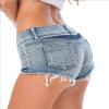 Qian Xu мини шорты сексуальный лацкане короткие джинсы женщины 2018 летние синие шорты горячие брюки джинсовые шорты женское нижне