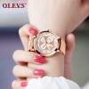 OLEVS Топ бренда роскошные женские часы из нержавеющей стали наручные часы для женщин кварцевые часы для девочек праздничные подарки relojes mujer роскошные золотые часы женские кварцевые стальные наручные часы повседневные женские наручные часы женские часы