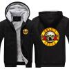 Мужские толстовки Рок-музыка Guns N Розы Зимний флис пальто Печать Толстовки Толстые свитера Юниодные куртки