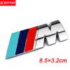 Значок эмблемы наклейки для логотипа 3D NEW M для BMW M X1 X3 F25 E70 E53 X6 E71 E60 E64 E39 E46 M3 M5 купить эмблемы для авто заказ