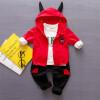 Осенняя мода Детская одежда Комплекты с длинным рукавом Детская одежда Спортивный костюм для мальчиков + рубашка + брюки Комплект из 3 предметов комплекты нательные для малышей я большой комплект