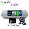 CU800 7 Автомобильная камера ночного видения DVR FHD 1080P Dash Cam Recorder Двойной захват объектива Обнаружение парковки Автомобильный зеркальный рекордер