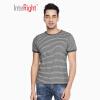 ВМЕСТЕВАЯ мужская футболка хлопок полосатая морская душа рубашка с короткими рукавами серый бар XL