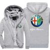 2018 Новая горячая продажа Новый Alfa Romeo мода плюс бархат толстый с капюшоном свитер осенью и зимой молния кардиган куртка наклейки tony 2 74 alfa romeo mito 147 156 159 166 giulietta gt