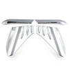 Ryanstar Racing 4pcs ABS Plastic Chrome Cover Trim Back Rear Tail Light Lamp Frame Stick Part For TOYOTA C-HR CHR 2016-2018 sncn 2pcs car rearview mirror eyebrow cover rain proof snow protection decoration accessories for toyota c hr chr 2016 2017