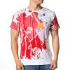 Мужская мода Печать с короткими рукавами O-образным вырезом PulloverT-Shirts комплект футболок с v образным вырезом 3шт