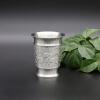 Восточный олово - ликерная чашка Pewter Pure Tin 97% Lead-Free BB8 Hand Carved Beautiful Тиснение слонами Handmade в Таиланде beautiful darkness