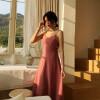 Бали пляж юбка женщина лето новый приморский праздник сексуальный тонкий уход за одеждой машина утечка обратно платье