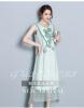 2018 новый китайский стиль без рукавов раунд шею платье длинное вышивка платье освободить слово юбка большой размер женской одежды