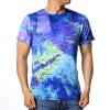 Модные мужские O-образные вырезы для геометрии Градиентные печатные майки для пуловера
