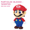 4200 Pcs Big Size Cute Super Mario Bros DIY Creative Bricks Toy Child Educational Wange Building Block Brick Juguetes wange building blocks 625pcs diy creative special bricks toys for children educational toys compatible with major brand brinqued