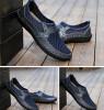Мужская мода Повседневная обувь Плоское дно бизнес остроконечный воздухопроницаемый Кожаная обувь Мужская обувь мужская обувь