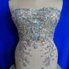 Фото Ручная работа кристалл отделка патчей очистить AB цвет шить на Rhinestones аппликация 48 * 32 см для верхней одежды юбка DIY аксессуар аксессуар