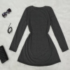 Lovaru ™НОВЫЕ 2015 Зимние Осенние женщины одеваются с длинным рукавом Повседневные платья Платье-футляр сплошной цвет платья Vestidos повседневные платья