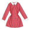 Lovaru ™Новая мода женские платья плед платья вскользь платье стиля с длинным рукавом лацкане мини платье проверил