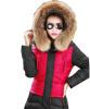 мода женщины долго вниз для теплых зимних пальто и слим верхней одежды парка.