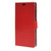 MOONCASE чехол for ZTE Blade S6 Plus S6+ Кожаный бумажник флип Чехол карты с Kickstand Дело Чехол красный01