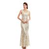 CAZDZY вечернее платье с пайетками без рукавов