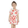 Летнее платье для девочек 2018 Новое платье для печати A-Line для платья для девочек Хлопок Повседневный стиль Свободный лоскут для патчей платья для девочек