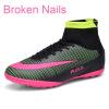 Новые взрослые мужские наружные футбольные бутсы для ботинок High Top TF / FG Футбольные бутсы Обувь для спортивной кроссовки Плюс Размер 35-46
