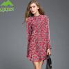 Женская любовь печатает сексуальные вершины офисные женщины блузки длинный рукав блузка природа шелк верхняя одежда рубашки платья плюс размер XXL красный vestidos блузки linse блузка