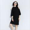 Lovaru ™ Новый европейский и американский свободно пятый рукав платье без бретелек и длинные участки твердого юбка осень модные женские