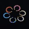 5PCS нержавеющая сталь перфорированная для мужчин и женщин многоцветный носовой перегородки панк новый нос нос ногтей корпус ключицы кольцо нос jewe капли в нос