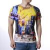 Мужские цветные печатные круглые шейные майки-пуловеры