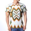 Повседневные круглая шея Пуловеры Пиксели Печатные мужские футболки пуловеры