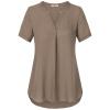 Timeson 2018 Летние женские блузки V-образным вырезом с коротким рукавом шифон блузки с короткими рукавами с длинными рукавами блузки