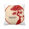 в японии культура красного дерева модель площадь бросить подушку включить подушки покрытия дома диван декор подарок музыка цунами в японии