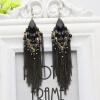 Серьги ручной работы Crystal Tassel для женщин Gown Нигерия Свадебные ювелирные изделия Женская вечеринка Серьга Grammy Star Style