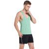 JINSHI Men's Stringer Gym Tank Top Y-back Тренировочная рубашка prada хлопковая рубашка