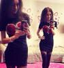 Lovaru ™ нового способа новизны Женская мода платье O-образным вырезом платья с сердцем печати