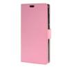 MOONCASE чехол for ZTE Blade S6 Plus S6+ Кожаный бумажник флип Чехол карты с Kickstand Дело Чехол розовый