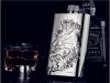 Qian Xu Россия портативный кувшин Whisky Jug Jug Jug нержавеющая сталь подлинная наружная портативная 17 унций унция чистая достав