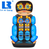 New!! LEK 918G Heating massager neck waist back massage cushion, Electric massage pad, multifunctional full body massage cushion pop relax electric vibrator jade massager light heating therapy natural jade stone body relax handheld massage device massager