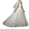 Кружева с плеча Backless зашнуровать вверх платье линии свадебное платье