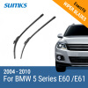 SUMKS Wiper Blades for BMW 5 Series E39 /5 Series E60 / E61 24& 23 / 26& 22 Fit pinch tab Arms / Side Latch Arm 1995 to 2010 sumks wiper blades for alfa romeo giulietta 23