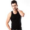 Мужские жилеты сплошной цвет однообразный молодежь случайные спортивные дно рубашка тенденция личности плечо ширина жилет прохладно