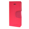 MOONCASE чехол для iPhone 5G / 5S PU Leather Flip Wallet Card Slot Stand Back Cover Hot pink mooncase чехол для iphone 6 plus 5 5 pu leather flip wallet card slot stand back cover hot pink